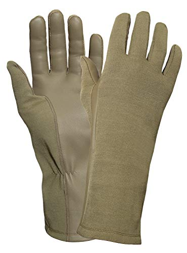 Rothco G.I. Type Flame & Heat Resistant Flight Gloves, AR 670-1 Coyote Brown, 10