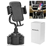 Vocalol Car Phone Mount,360 Degree [Adjustable Distance] Cup Car Phone Holder, Handsfree Cell Phone Car Mount Compatible for iPhone XR Xs Max Xs X 8 7 6,Samsung Galaxy S10 S10+ S10e S9 (Black)