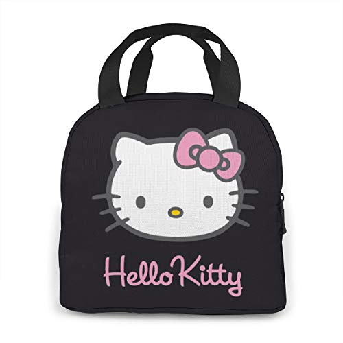 Insulated Zipper Hello kitty Lunch Bag Cooler Tote Bag for Adult Teen Men Women Bird Lunch Boxes Lunchboxes Meal Prep Handbag