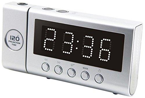 Soundmaster FUR6100SI PLL UKW Funkuhrenardio mit Projektion, Dualalarm
