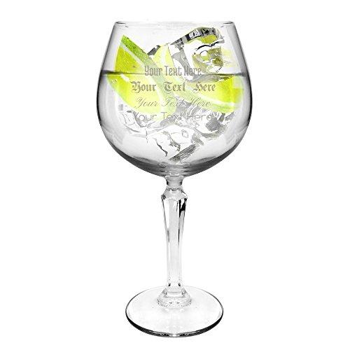 Ginsanity Speakeasy Coupe de Verres Personnalisés Gravé Gin & Tonic Ballon Cocktail/Lunettes dans Une Boîte Cadeau [585ml]