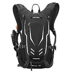 toptrek Plecak rowerowy 18L Ultralight Plecaki rowerowe z ochrony przeciwdeszczowej i kask cover drinking plecak wodoodporny plecak rowerowy Plecak sportowy nawadnianie Plecak dla mężczyzn MTB (czarny)