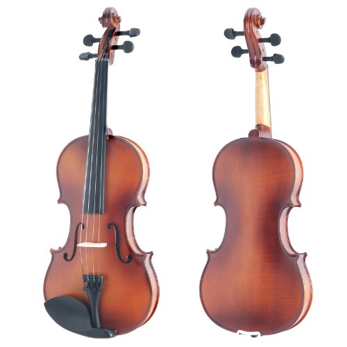 Mendini by Cecilio MV Solid Wood Violin with Hard Case, Shoulder Rest,...