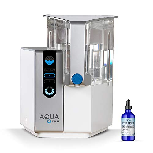 AquaTru - Countertop Water Filtration Purification System with Perfect Minerals Drops - Exclusive 4-Stage Ultra Reverse Osmosis Technology (No Plumbing or Installation Required) | BPA Free