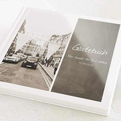 sendmoments Gästebuch, zum Auslegen und Eintragen, Tafelmotiv, individuell mit Text und...