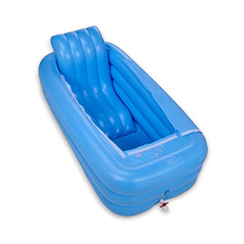 LNDDP Family Inflatable Bathtub, Easy Folding Storage, Thickened Adult Bathtub, Square Bathtub Sloping Pillow, Best Gifts