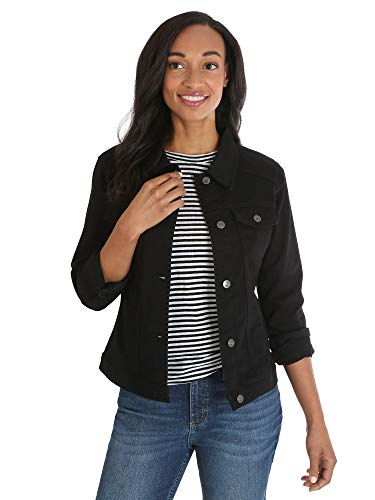 Riders by Lee Indigo Women's Denim Jacket, black, LARGE