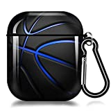 AirPods Case Basketball Protective Hard AirPods 2&1 Case Cover Portable & Shockproof with Keychain Compatible with Apple AirPods 2&1 Charging Cases