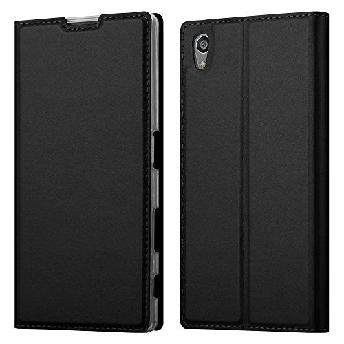 Cadorabo Coque pour Sony Xperia Z5 en Classy Noir - Housse Protection avec Fermoire Magnétique, Stand Horizontal et Fente Carte - Portefeuille Etui Poche Folio Case Cover