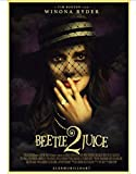HUANGJIE Canvas Poster Horror Film Beetlejuice Retro Poster Home Decoration 50 * 70Cm(No Frame)