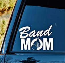 Yilooom L1038 Band Mom Music Notes Decal Sticker Marching Band Guitar, Bass Treble Clef