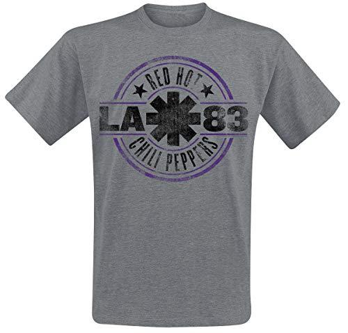 Red Hot Chili Peppers LA 83 Männer T-Shirt grau meliert M