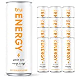 Tru Energy Drink - Natural Energy Seltzers - Wake Up Blend - 12oz (Pack of 12)