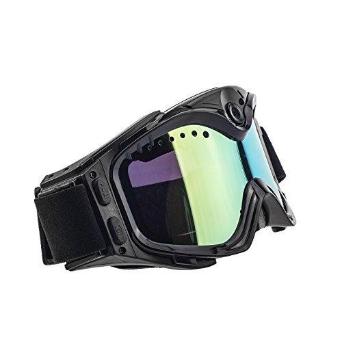 Kamerabrille Spionagebrille Ski Google Kamera TE201 Full HD hochauflösend mit 2 Megapixel zur Aufnahme von Bildern und Videos mit Mikrofon, Mini Videokamera, Mini Digitalkamera von Kobert- Goods