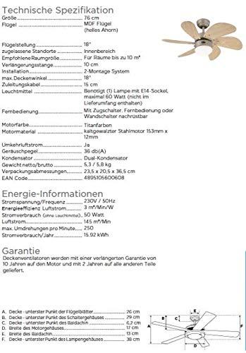 Westinghouse 7815840 Deckenventilator Bild 6*