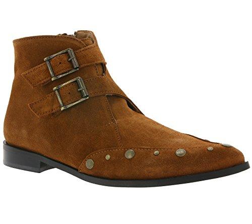 Heine raffinierte Nieten-Stiefelette Stiefel Cowboy-Stiefel Damen Braun, Größenauswahl:37