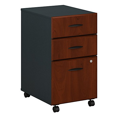Bush Business Furniture Series A 3 Drawer Mobile File Cabinet, Hansen Cherry/Galaxy