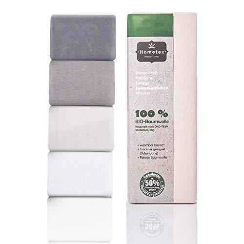Hometex Premium Textiles Bio Spannbettlaken Spannbetttuch bis 25 cm Steghöhe | Bettlaken aus 100% Bio-Baumwolle 140g/m² - PREMIUMQUALITÄT ÖKO-TEX Standard Green 100 | 90/190-100/200 cm Altrosa
