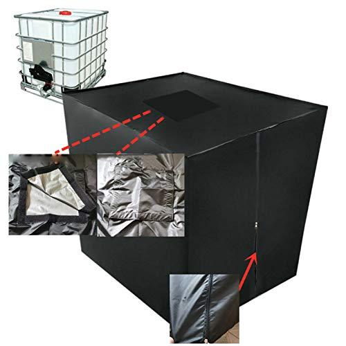 qingfeitai IBC Abdeckung IBC Tank Abdeckung Wassertank 1000 Liter Zubehör Regentonne 1000l Abdeckung IBC Container 1000l 120 X 100 X 116 cm (Top mit Reißverschluss)