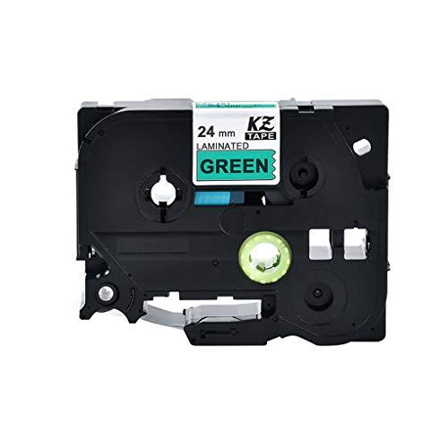 probeninmappx Ersatz für Brother P-Touch 24mm 8m Etikettendrucker Band laminiert Farbige Tag Maker Band