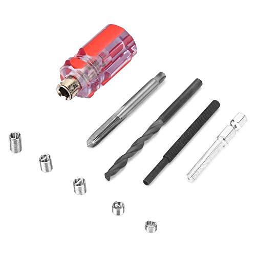 105PCs/Set Edelstahl-Gewindereparatur-Kit, professionelles Werkzeugset für Drahtgewinde-Reparatur-Einsätze mit Aufbewahrungsbox(M5 * 0,8)
