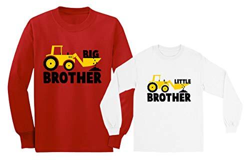 Camiseta Manga Larga 2 Piezas - Big Brother Little Brother Regalo para Hermanos