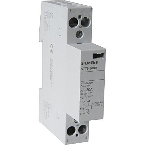 SIEMENS Ingenuity for life SIEM Installationsschütz 5TT5800-0 2S 230 400V 20A AC 230V, Mehrfarbig