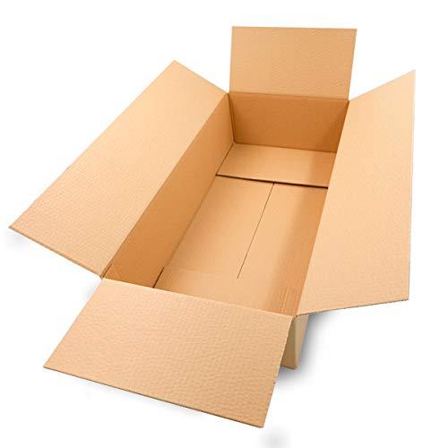 25 Faltkartons 600x300x150mm braun KK 106 1 wellig rechteckige Versandkartons | DHL M Päckchen | DPD L | GLS L | H M Paket | DHL Versandkartons Größe M