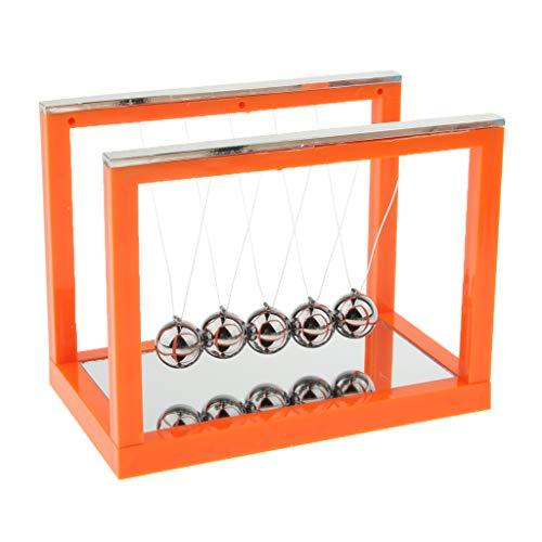 Sharplace Berceau De Newton avec Miroir Balance Ball Bureau Jouet Décoration Domicile - Orange