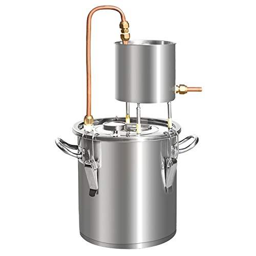 Moonshine destilador Vino sin Alcohol Kit destilador de Acero Inoxidable Kit de elaboración de Vino casero de Acero Inoxidable Caldera Cambie libremente los métodos de instalación para Bricolaje