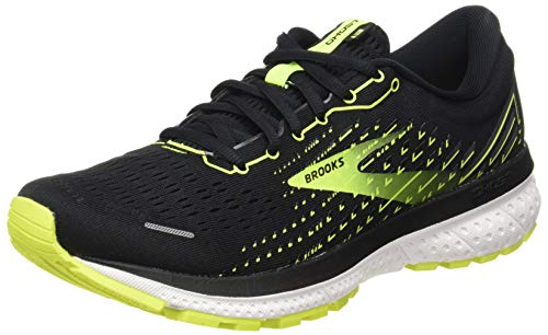 Brooks Ghost 13, Scarpe da Corsa Uomo, Black/Nightlife/White, 43 EU
