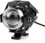 Faro Auxiliar para Moto Foco Delantero 1 Pieza 15W U5 LED Faro Antiniebla Bombilla Impermeable 3000LM para 12V-80V Motocicletas Bicicletas Automóviles-Negro