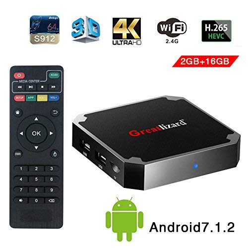 android 7.1 4k tv box with 2gb ddr3 ram and 16gb storage