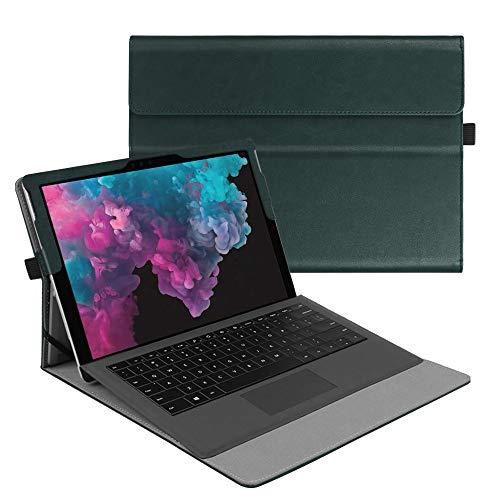 Fintie Hülle für Microsoft Surface Pro 7+/ Pro 7/ Pro 6/ Pro 5/ Pro 4/ Pro 3 12,3 Zoll Tablet - Multi-Sichtwinkel Hochwertige Tasche Schutzhülle aus Kunstleder, Type Cover kompatibel, Dunkelgrün