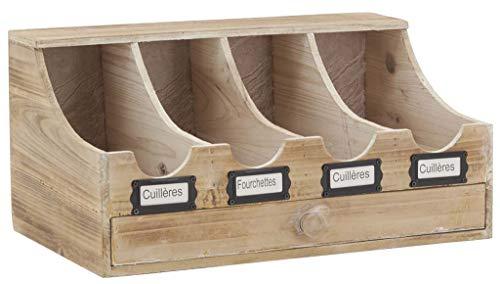Range-couverts brasserie en bois vieilli