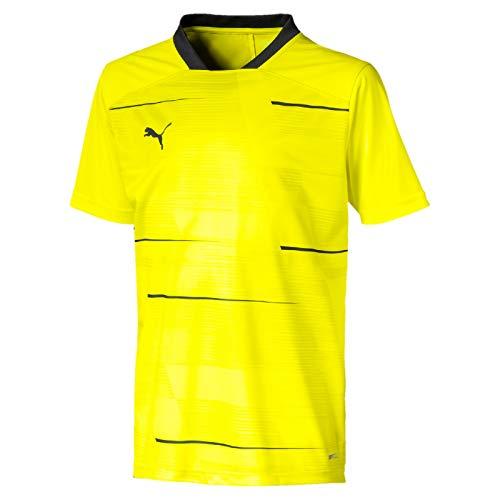 PUMA Jungen ftblNXT Graphic Shirt Jr Trikot, Yellow Alert/Grey Dawn, 152