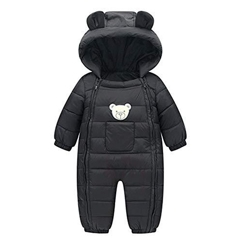 Zhen+ Unisex Baby Overall für 0-24 Monate Junge Mädchen Strampler Jumpsuit Daunenmantel mit Kapuzen Warme Winter Säugling Spielanzug Schlafanzug Outfit Wintermantel