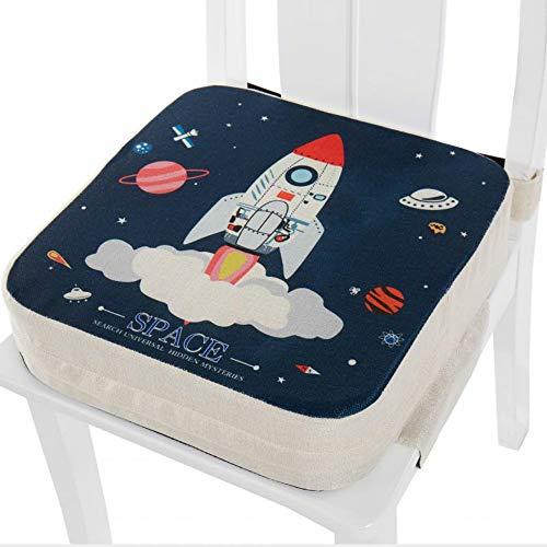 Cuscino Rialzo da Sedia per Bambini, Fansu Comodo e Facile da Pulire Smontabile Regolabile Cuscino Alzasedia per Seggioloni Cuscino Seduta per Sedia da Giardino (ufo,40x40x10cm)