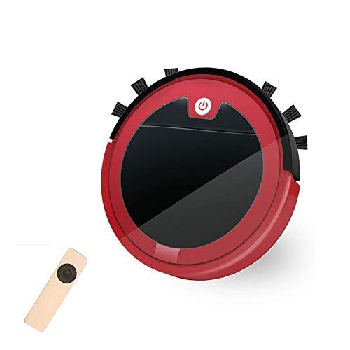 LTLJX Robot Aspirador de Alta succión, con Control Remoto, Sensor de caída, Trabaja en Pisos Duros de Pelo Corto de la Alfombra, Pelo del Animal doméstico, Rojo LUDEQUAN (Color : Red)