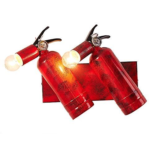 Restaurant Theme wandlampen, Modern Creative LED Iron Brandblusser Shaped Decorative Hanglamp Wandlamp Nordic Bar Aisle Eettafel wandkandelaar (Design : 2heads)