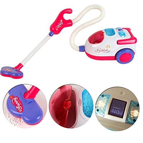 HSKB Putzwagenset mit Staubsauger und Zubehör mit Licht und Sound - Putzset für Kinder Putz Set mit Putzwagen - Putzwagen Inklusive Staubsauger Kinder Küche Rollenspiel