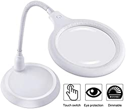 5X Magnifying Lamp, Touch Dimmable Magnifying Glass with Light, 30 LED Lighted Magnifier for Reading, Hobbies, Crafts, Repair, Sewing, Inspection, Jewelry Design
