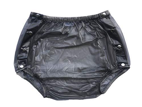 Haian Inkontinenzhose für Erwachsene, Kunststoff, zum Aufstecken, Größe L, transparent schwarz