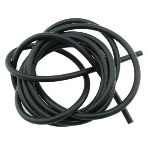 Bacabella 15063 Kautschukband 1m schwarz 3mm rund aus Gummi (Meterware bis 5m in einem Stück)