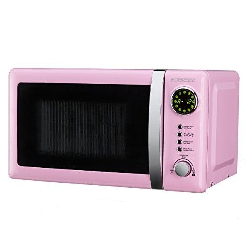 Jocel JMO001320 Microondas rosa, 700 W, 20 litros, Aluminio
