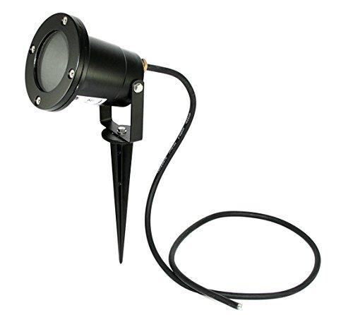 Kamilux GmbH 230V SMD LED 3Watt Aussenspot Gartenbeleuchtung Bodenstrahler Piso inkl. GU10 Hochvolt Leuchtmittel warmweiss