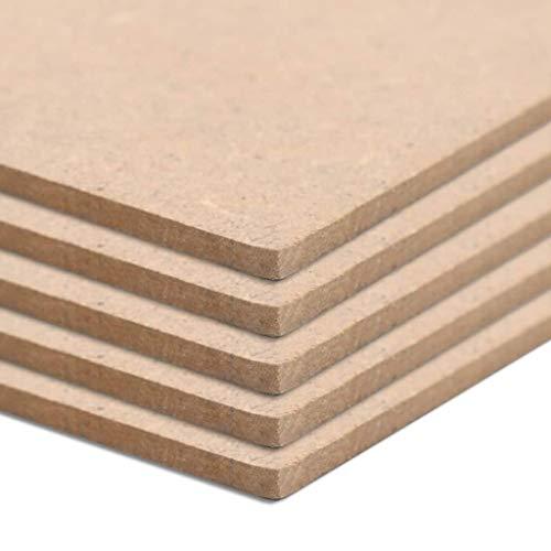 Tidyard MDF Platte Multiplexplatten 8 Stück MDF-Platten Holzplatten Quadratisch 60 x 60 cm Dicke von 12 mm