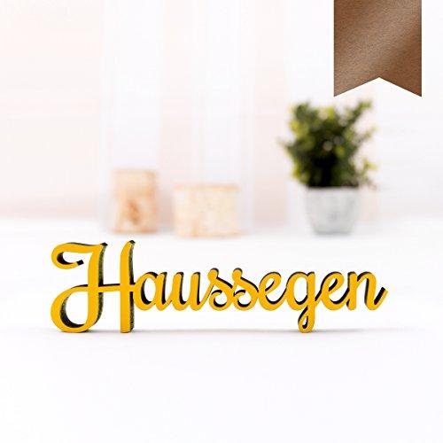 KLEINLAUT 3D-Schriftzug Haussegen in Größe: 15 x 4,1 cm - Dekobuchstaben - 32 Farben zur Wahl - Kupfer