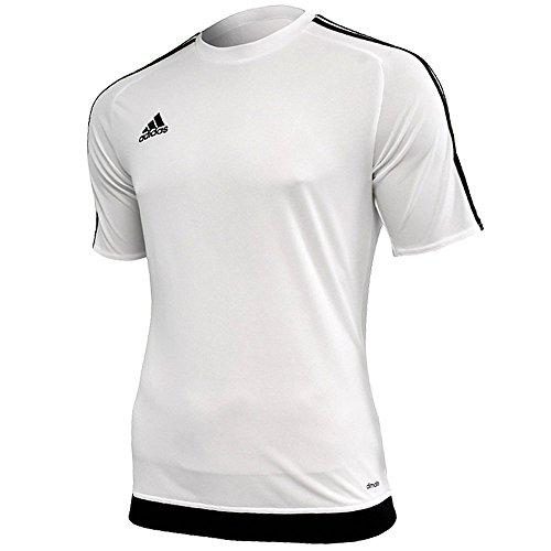 adidas Estro 15, T-Shirt Uomo, Multicolore (Blanco/Negro), M