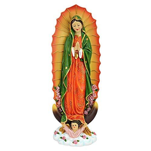 Design Toscano la Virgen de Guadalupe Religiosa Estatua, Piedra